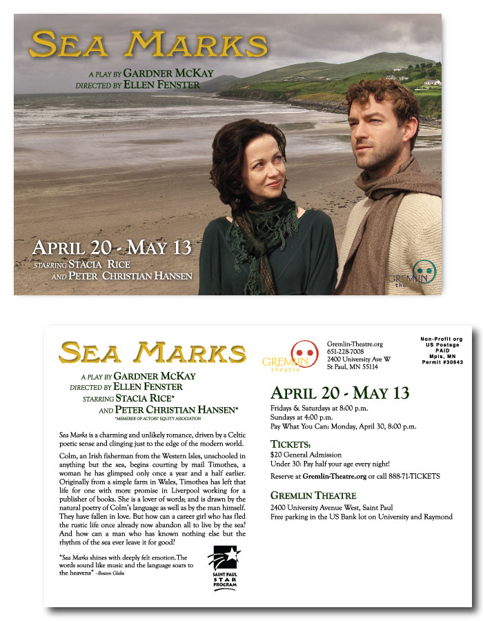 Postcard design for SEA MARKS